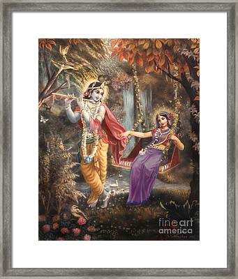 Radha's Swing Framed Print