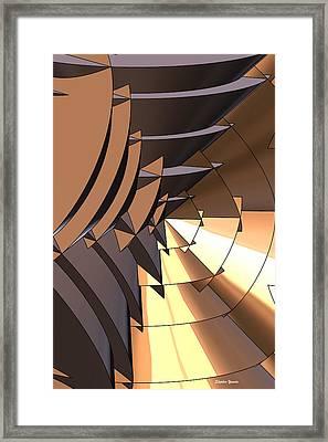 Radial Edges - Bronze Framed Print