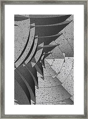Radial Edges - Concrete Framed Print