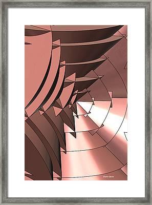 Radial Edges - Copper Framed Print