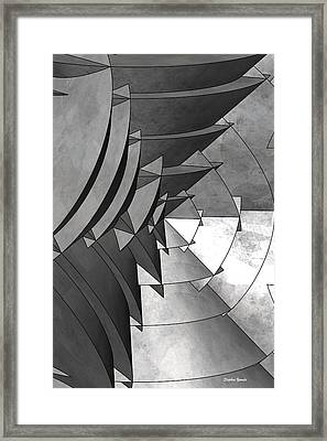 Radial Edges - Galvanized Framed Print by Stephen Younts
