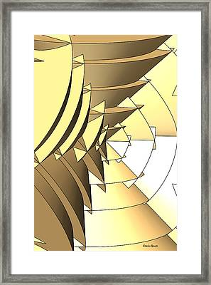 Radial Edges - Gold Framed Print by Stephen Younts