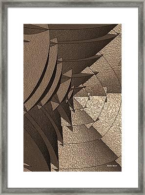 Radial Edges - Earth Framed Print