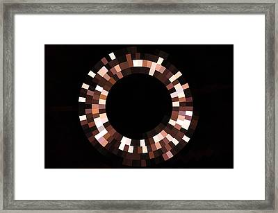 Radial Mosaic In Brown Framed Print