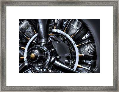 Radial Power Framed Print by Brandon Griffin