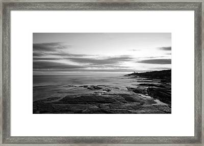 Radiance Of Its Light Black And White Framed Print by Lourry Legarde