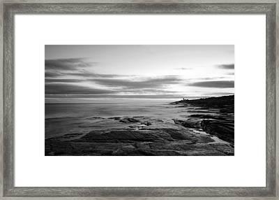 Radiance Of Its Light Black And White Framed Print