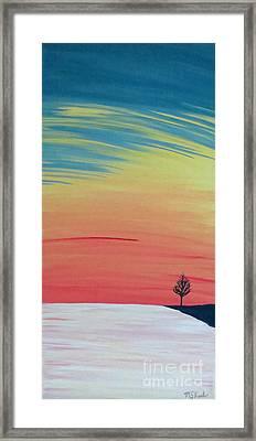 Radiance On Ice Framed Print by Melissa F Kaelin