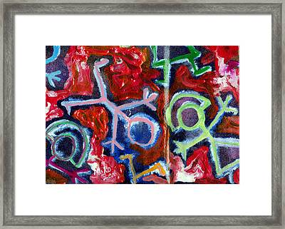 Radiant Christmas Humans Framed Print by Art By Miko
