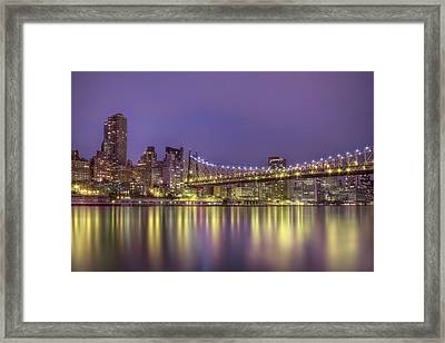 Radiant City Framed Print by Evelina Kremsdorf