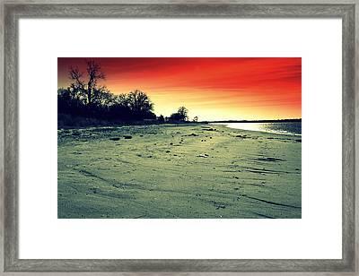 Radiant Dusk Framed Print by Mickey Harkins