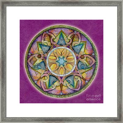 Radiant Health Mandala Framed Print by Jo Thomas Blaine