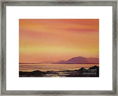 Radiant Island Sunset Framed Print by James Williamson