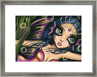 Radiant Pearl Framed Print by Elaina  Wagner