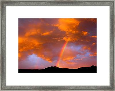 Radiant Rainbow Framed Print by Mavis Reid Nugent