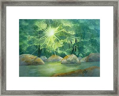 Radiant Recess Framed Print