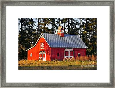 Radiant Red Barn Framed Print by Al Powell Photography USA