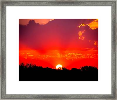 Framed Print featuring the photograph Radiant Sunset by Dee Dee  Whittle