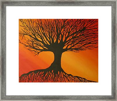 Radiant Tree Framed Print