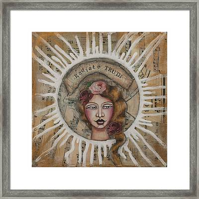 Radiate Truth Inspirational Folk Art Framed Print
