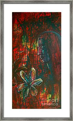 Framed Print featuring the painting Radiating Light by Mini Arora