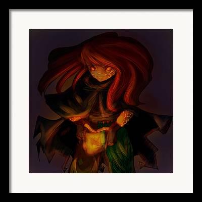 Irish Light Sorceress Framed Prints