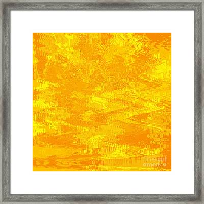 Radiating Sunshine Colors - Abstract Art Framed Print by Carol Groenen