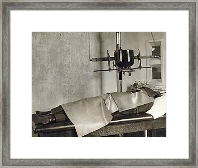 Radiation Cancer Treatment Framed Print by Underwood Archives