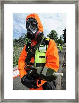 Radiation Emergency Response Worker Framed Print by Public Health England