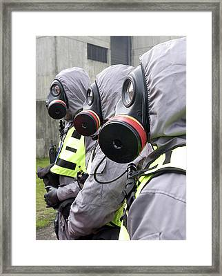 Radiation Emergency Response Workers Framed Print