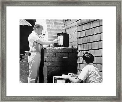 Radiation Monitoring Framed Print