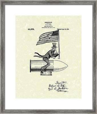 Radiator Ornament 1918 Patent Art Framed Print by Prior Art Design