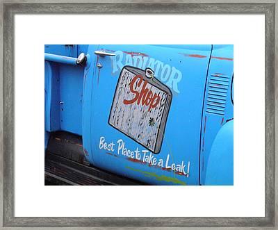 Radiator Shop Framed Print