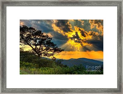 Radical Blue Ridge Sunset  I Framed Print by Dan Carmichael