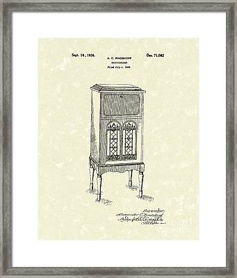 Radio Cabinet 1926 Patent Art Framed Print by Prior Art Design