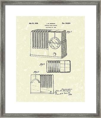 Radio Cabinet 1936 Patent Art Framed Print