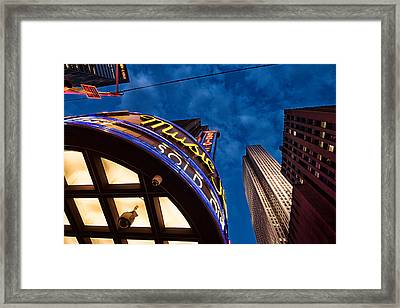 Framed Print featuring the photograph Radio City And 30 Rock by James Howe
