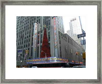 Radio City Christmas Framed Print