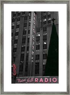 Radio City Christmas Tree Framed Print