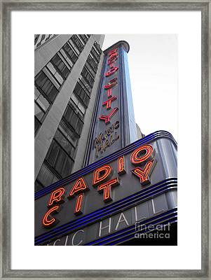 Radio City Framed Print by Dan Holm
