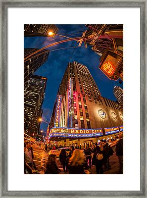 Framed Print featuring the photograph Radio City by James Howe