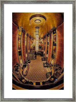 Radio City Mezzanine Framed Print