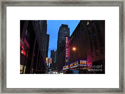 Radio City Music Hall And St Patricks Cathedral Framed Print by RicardMN Photography