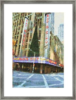 Radio City Music Hall At Christmas Framed Print by Dan Sproul
