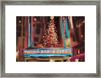 Radio City Music Hall Christmas New York City Framed Print by Beverly Brown