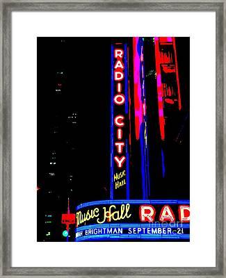 Radio City Music Hall Framed Print by Ed Weidman