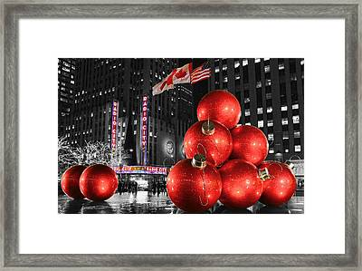 Radio City Music Hall In January  Framed Print by Lee Dos Santos