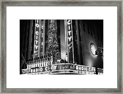 Framed Print featuring the photograph Radio City New York by Dave Beckerman