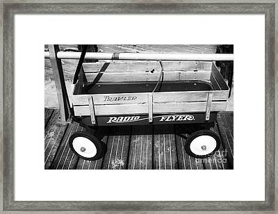 Radio Flyer Framed Print by John Rizzuto