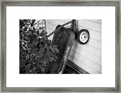 Radio Flyer Mono Framed Print by John Rizzuto